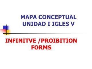 MAPA CONCEPTUAL UNIDAD I IGLES V