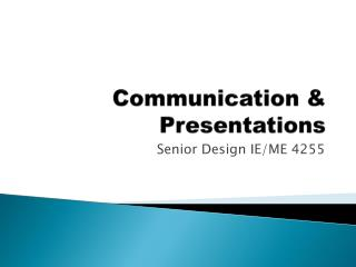 Communication & Presentations