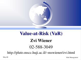 Value-at-Risk VaR