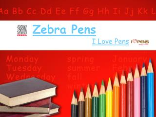 Zebra Ballpoint Pens From I Love Pens