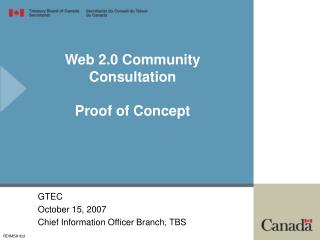 Web 2.0 Community Consultation Proof of Concept