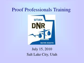 Proof Professionals Training
