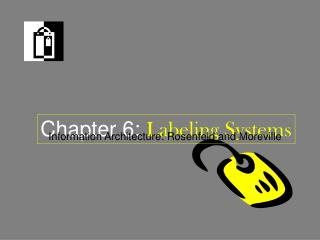 Chapter 6:  Labeling Systems