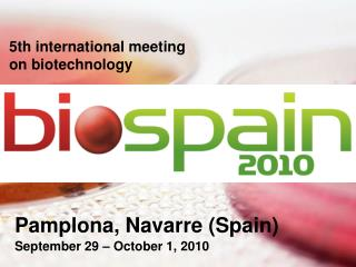 5th international meeting  on biotechnology