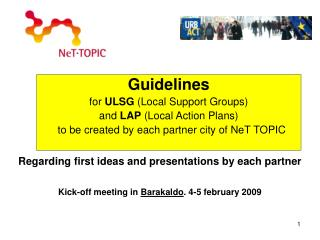 Guidelines  for  ULSG  (Local Support Groups)   and  LAP  (Local Action Plans)