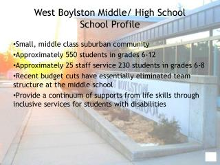 West Boylston Middle/ High School School Profile