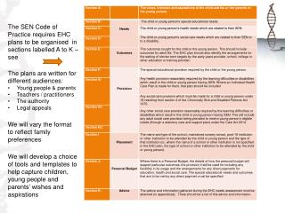 EHC Categories A K