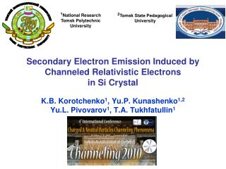 Secondary Electron Emission Induced by Channeled Relativistic Electrons  in Si Crystal