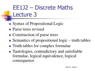 EE1J2 – Discrete Maths Lecture 3