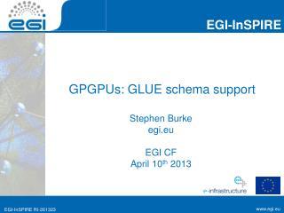GPGPUs: GLUE schema support