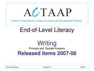 End-of-Level Literacy