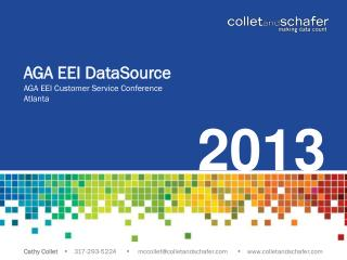 AGA EEI  DataSource AGA EEI Customer Service Conference Atlanta