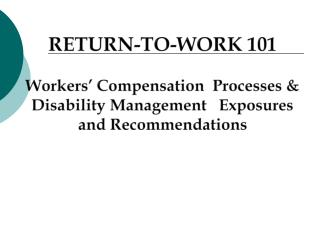 THE CALIFORNIA WORKERS' COMPENSATION (WC) SYSTEM