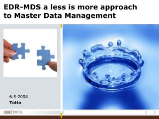 EDR-MDS a less is more approach to Master Data Management