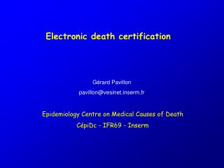 Electronic death certification