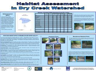 Habitat Assessment in Dry Creek Watershed