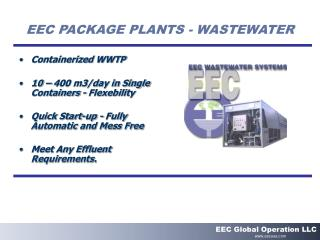 EEC PACKAGE PLANTS - WASTEWATER
