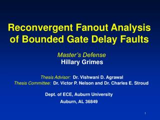 Reconvergent Fanout Analysis of Bounded Gate Delay Faults