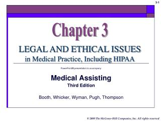 PowerPoint  presentation to accompany:  Medical Assisting Third Edition  Booth, Whicker, Wyman, Pugh, Thompson