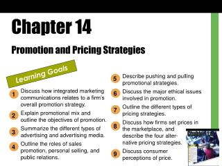 Chapter 14 Promotion and Pricing Strategies