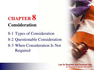CHAPTER  8 Consideration