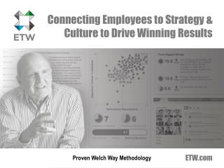Connecting Employees to Strategy & Culture to Drive  W inning Results