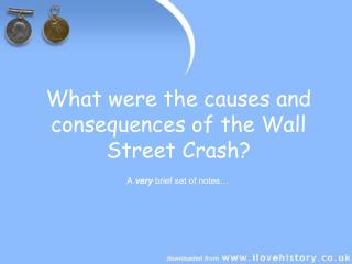 What were the causes and consequences of the Wall Street Crash?