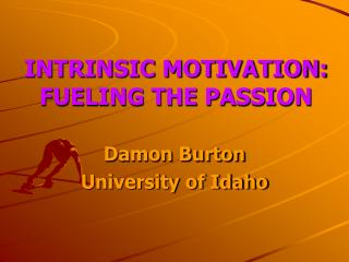 INTRINSIC MOTIVATION:  FUELING THE PASSION