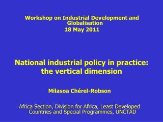 National industrial policy in practice: the vertical dimension