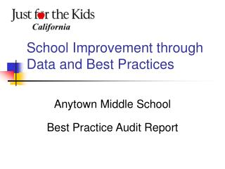 School Improvement through Data and Best Practices
