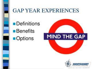 GAP YEAR EXPERIENCES