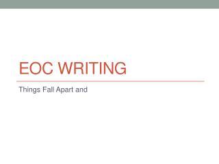 EOC Writing