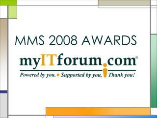 MMS 2008 AWARDS