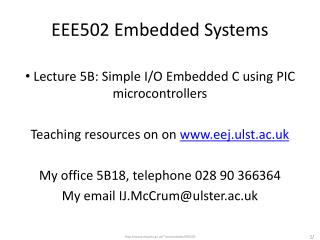 EEE502 Embedded Systems