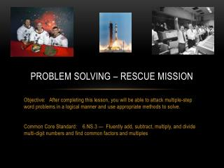 Problem Solving – Rescue Mission
