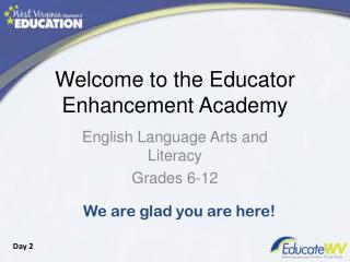 Welcome to the Educator Enhancement Academy