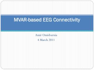 MVAR-based EEG Connectivity