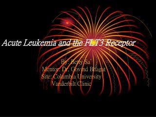 Acute Leukemia and the FLT3 Receptor