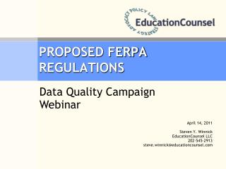 PROPOSED FERPA REGULATIONS