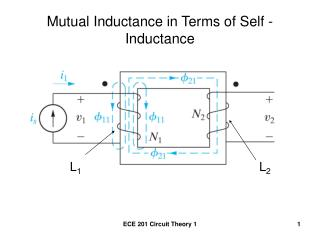 Mutual Inductance in Terms of Self - Inductance