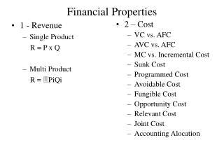 Financial Properties