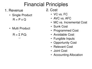 Financial Principles
