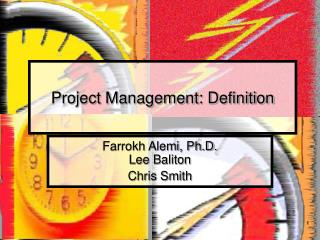Project Management: Definition