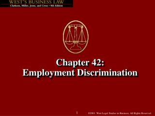 Chapter 42: Employment Discrimination