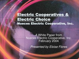 Electric Cooperatives & Electric Choice  Nueces Electric Cooperative, Inc.