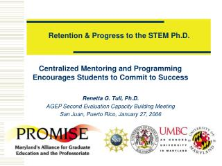 Retention & Progress to the STEM Ph.D.