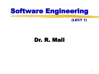 Software Engineering (LECT 1)