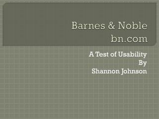 Barnes & Noble bn