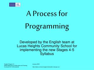 A Process for Programming
