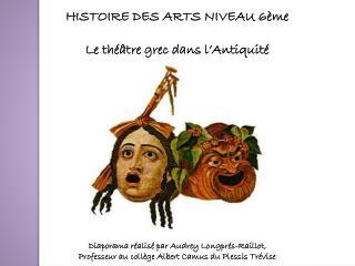 HISTOIRE DES ARTS NIVEAU 6ème Le théâtre grec dans l'Antiquité